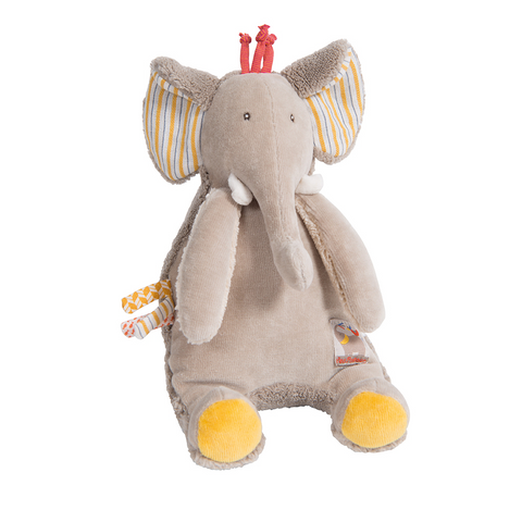 "MOULIN ROTY Musical Soft Toy Elephant ""Les Papoum"""