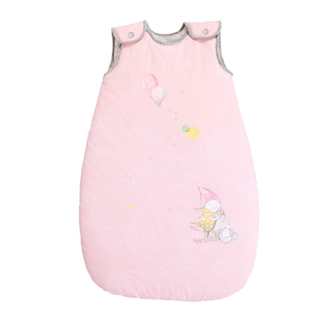 "MOULIN ROTY Baby sleeping bag Pink 70cm ""Les Petits dodos"""