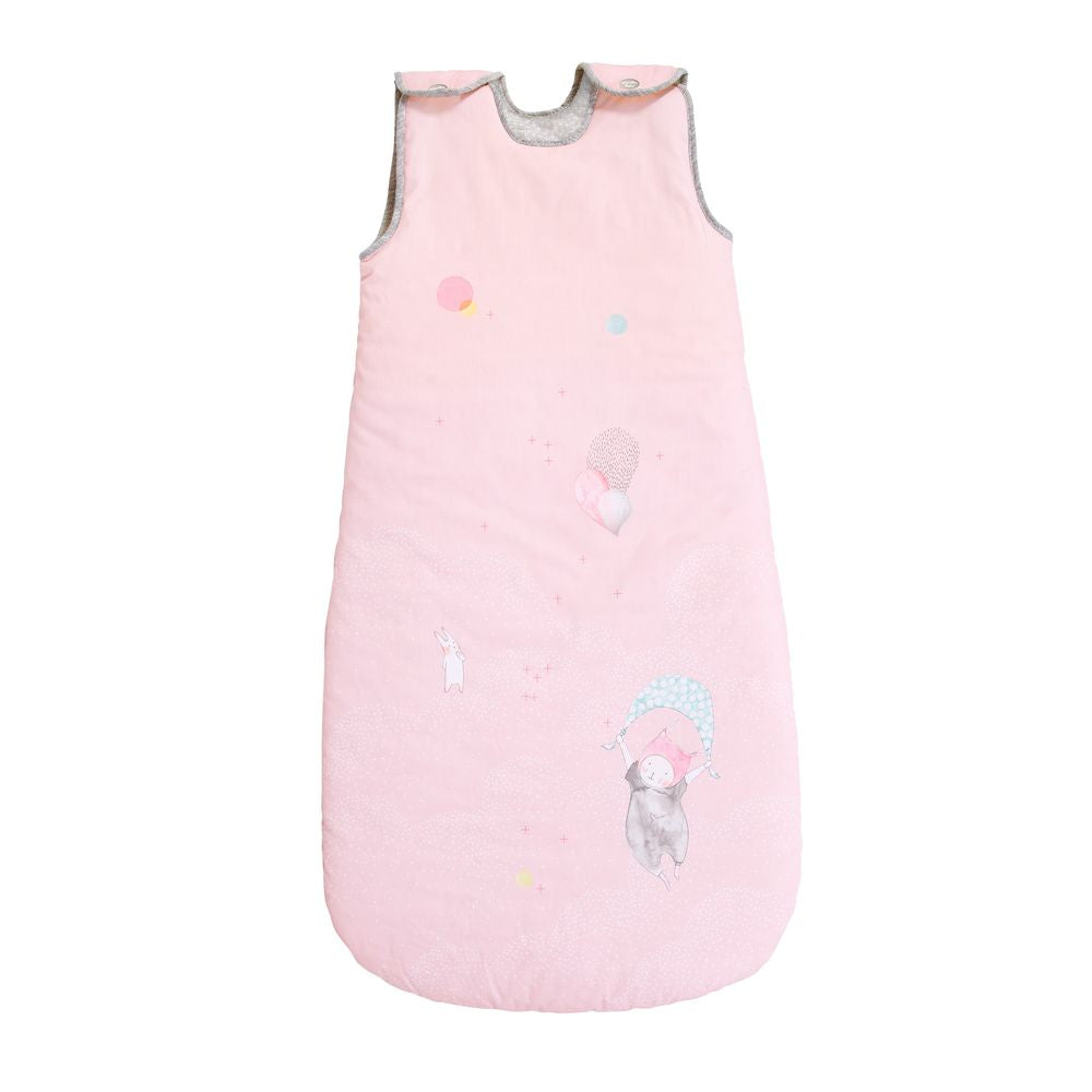 "MOULIN ROTY Baby sleeping bag Pink 90cm ""Les Petits dodos"""