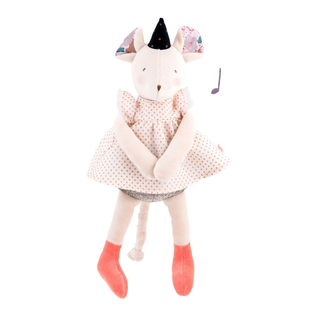 "MOULIN ROTY Musical Soft Toy mouse ""Il était une fois"""