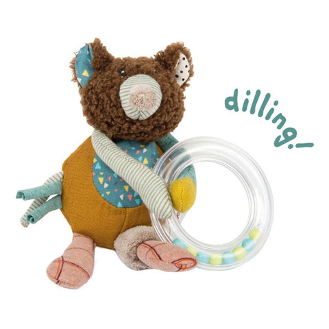 "MOULIN ROTY Bear ring rattle ""Les Jolis trop beaux"""