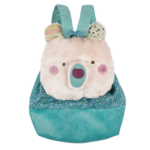 "MOULIN ROTY Cream bear backpack ""Les Jolis trop beaux"""