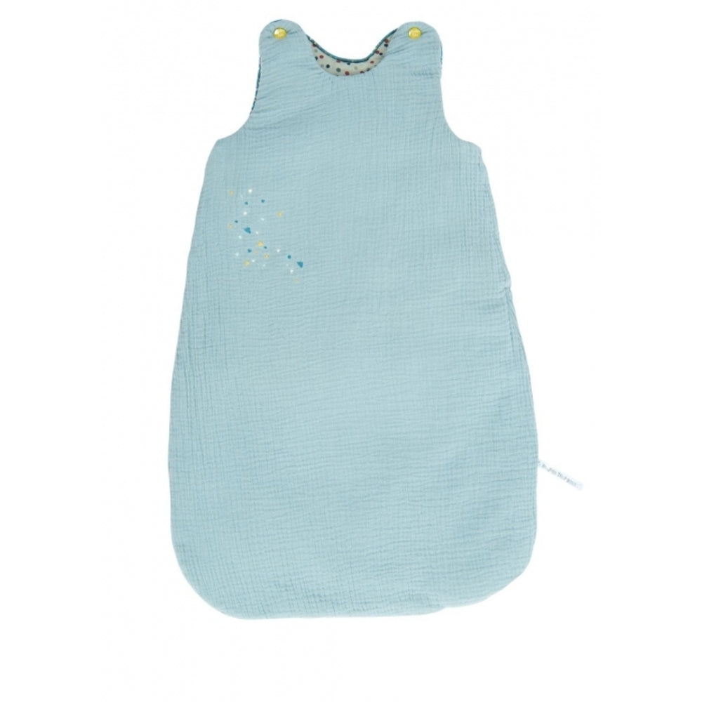 "MOULIN ROTY Baby sleeping bag Light Blue 70cm ""Les Jolis trop beaux"""