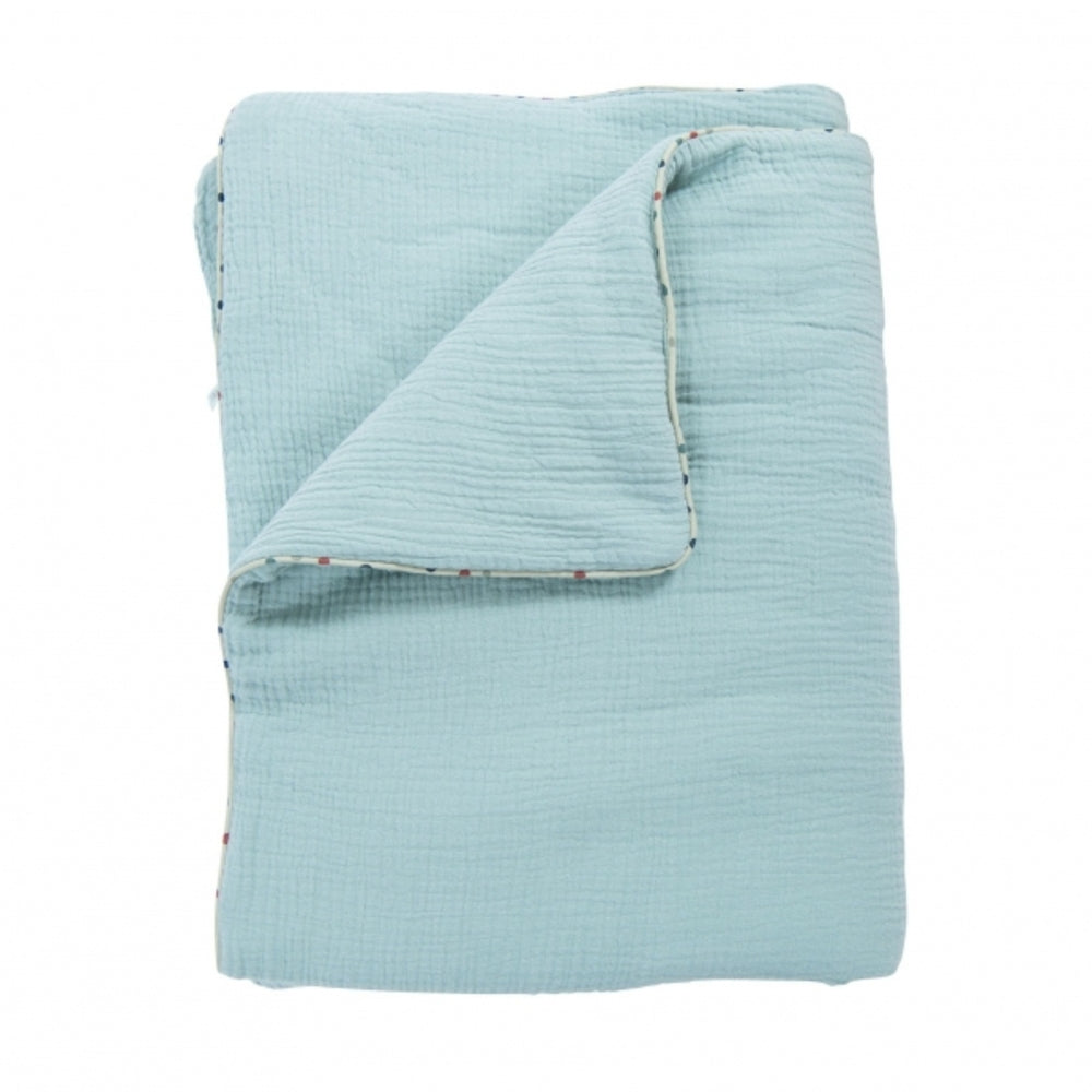 "MOULIN ROTY Baby blanket Light Blue ""Les Jolis trop beaux"""
