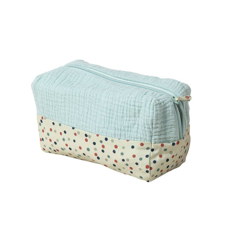 "MOULIN ROTY Blue toiletry bag ""Les Jolis trop beaux"""