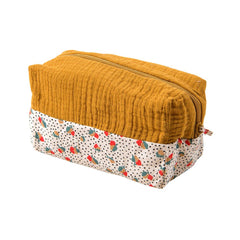 "MOULIN ROTY Ochre toiletry bag ""Les Jolis trop beaux"""