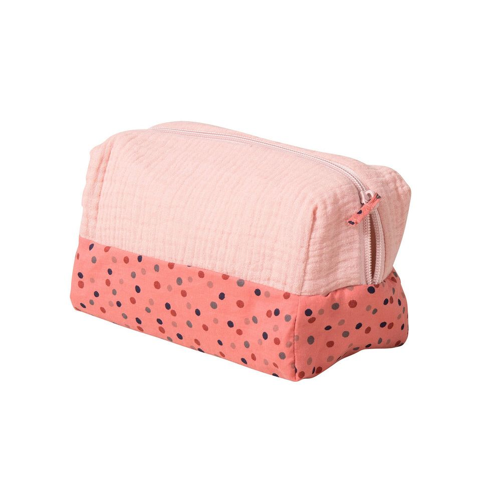 "MOULIN ROTY Pink toiletry bag ""Les Jolis trop beaux"""