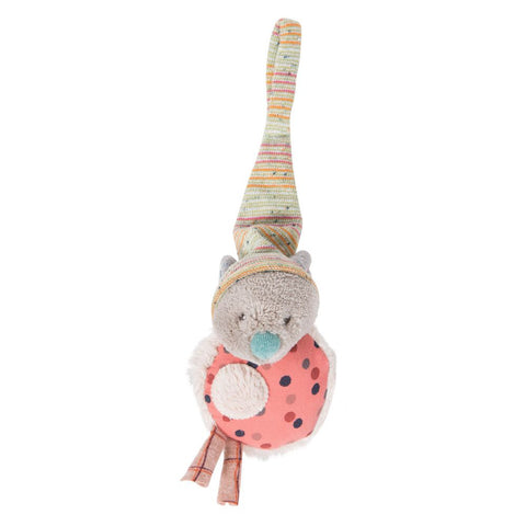 "MOULIN ROTY Comforter soother holder Mouse ""Les Jolis trop beaux"""