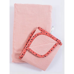 "MOULIN ROTY Pink cover for changing mat ""Les Jolis trop beaux"""