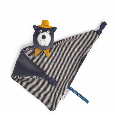 "MOULIN ROTY Alphonse cat comforter ""Les Moustaches"""