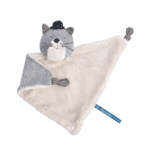 "MOULIN ROTY Fernand cat comforter ""Les Moustaches"""