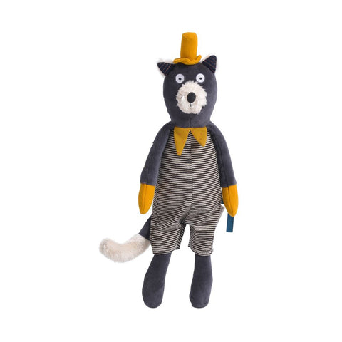 "MOULIN ROTY Soft Toy Alphonse cat ""Les Moustaches"""