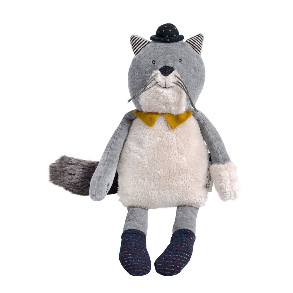 "MOULIN ROTY Soft Toy Fernand the cat 2 ""Les Moustaches"""