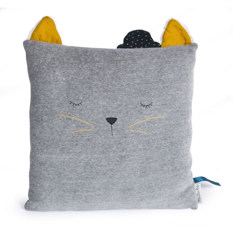 "MOULIN ROTY Cat cushion ""Les Moustaches"""