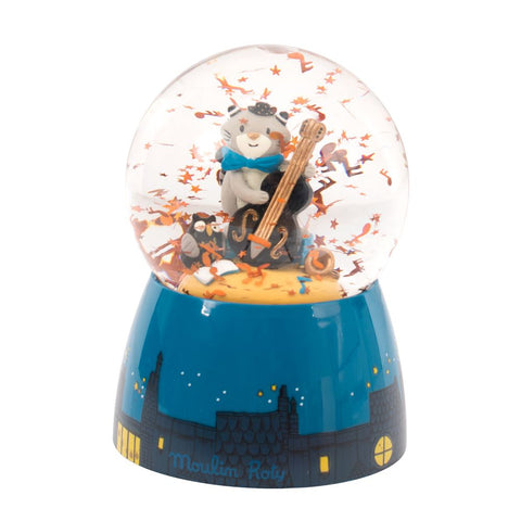 "MOULIN ROTY Musical snow globe ""Les Moustaches"""