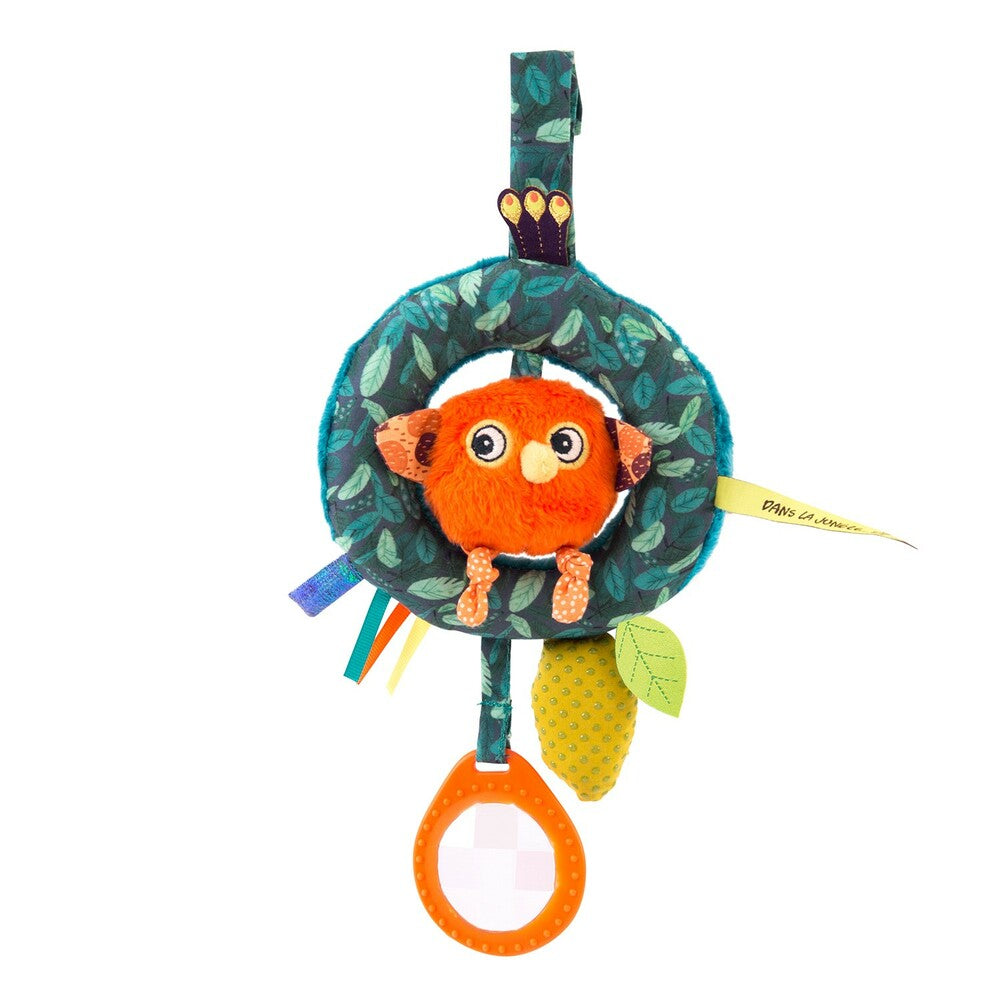 "MOULIN ROTY Chick hanging activity toy ""Dans la jungle"""