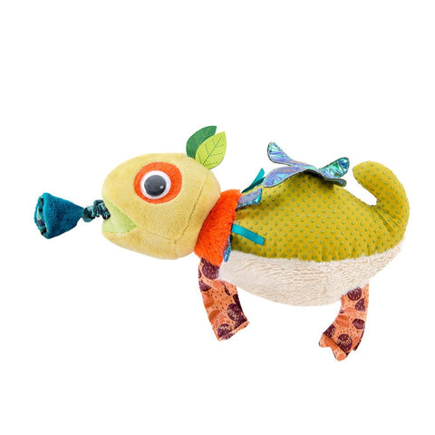 "MOULIN ROTY Chameleon vibrating toy ""Dans la jungle"""