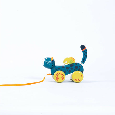 MOULIN ROTY Panther pull along toy