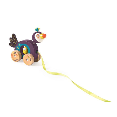 MOULIN ROTY Small toucan pull along toy