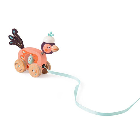 MOULIN ROTY Small bird pull along toy