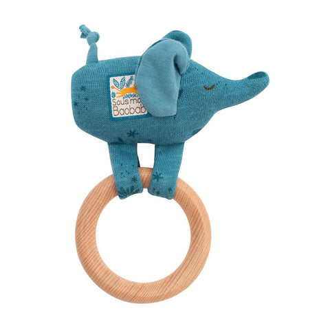 "MOULIN ROTY Ring rattle Elephant ""Sous mon baobab"""