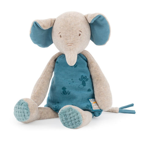 "MOULIN ROTY Soft Toy Elephant ""Sous mon baobab"""