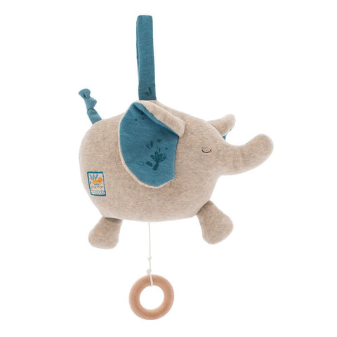 "MOULIN ROTY Musical Soft Toy elephant ""Sous mon baobab"""