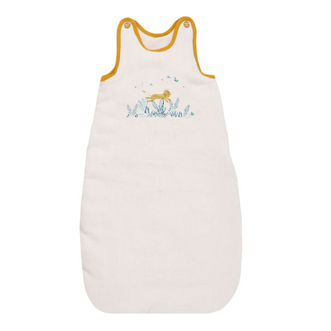 "MOULIN ROTY Baby sleeping bag cream 70cm ""Sous mon baobab"""