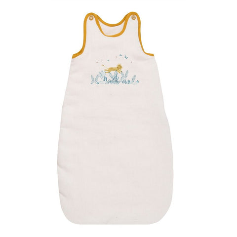 "MOULIN ROTY Baby sleeping bag cream 90cm ""Sous mon baobab"""