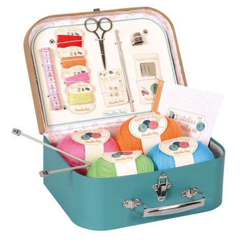 "MOULIN ROTY Suitcase Sewing set ""Classic toys"""
