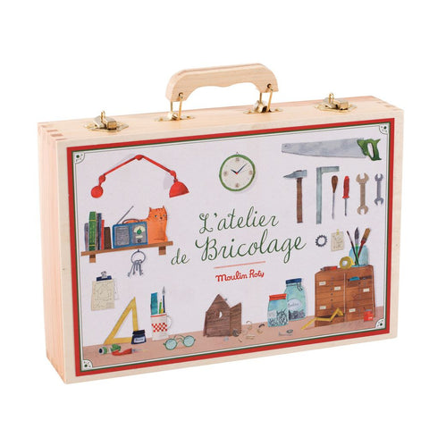 "MOULIN ROTY Suitcase Large tool box ""Classic toys"""