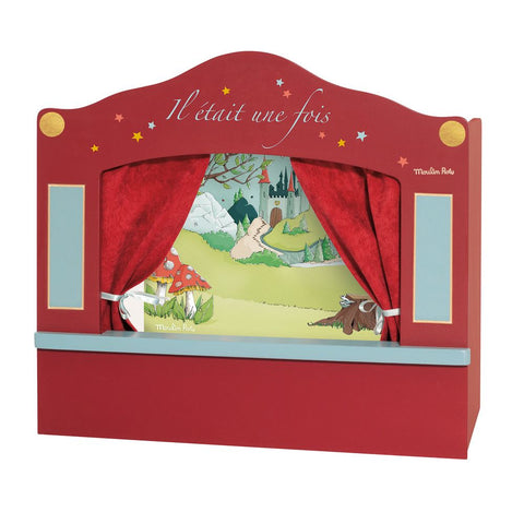"MOULIN ROTY Small red puppet theatre ""Il était une fois"""