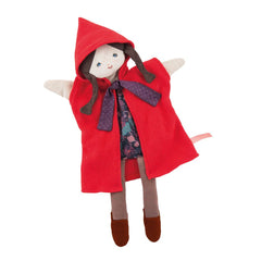 "MOULIN ROTY Little red riding hood puppet ""Il était une fois"""