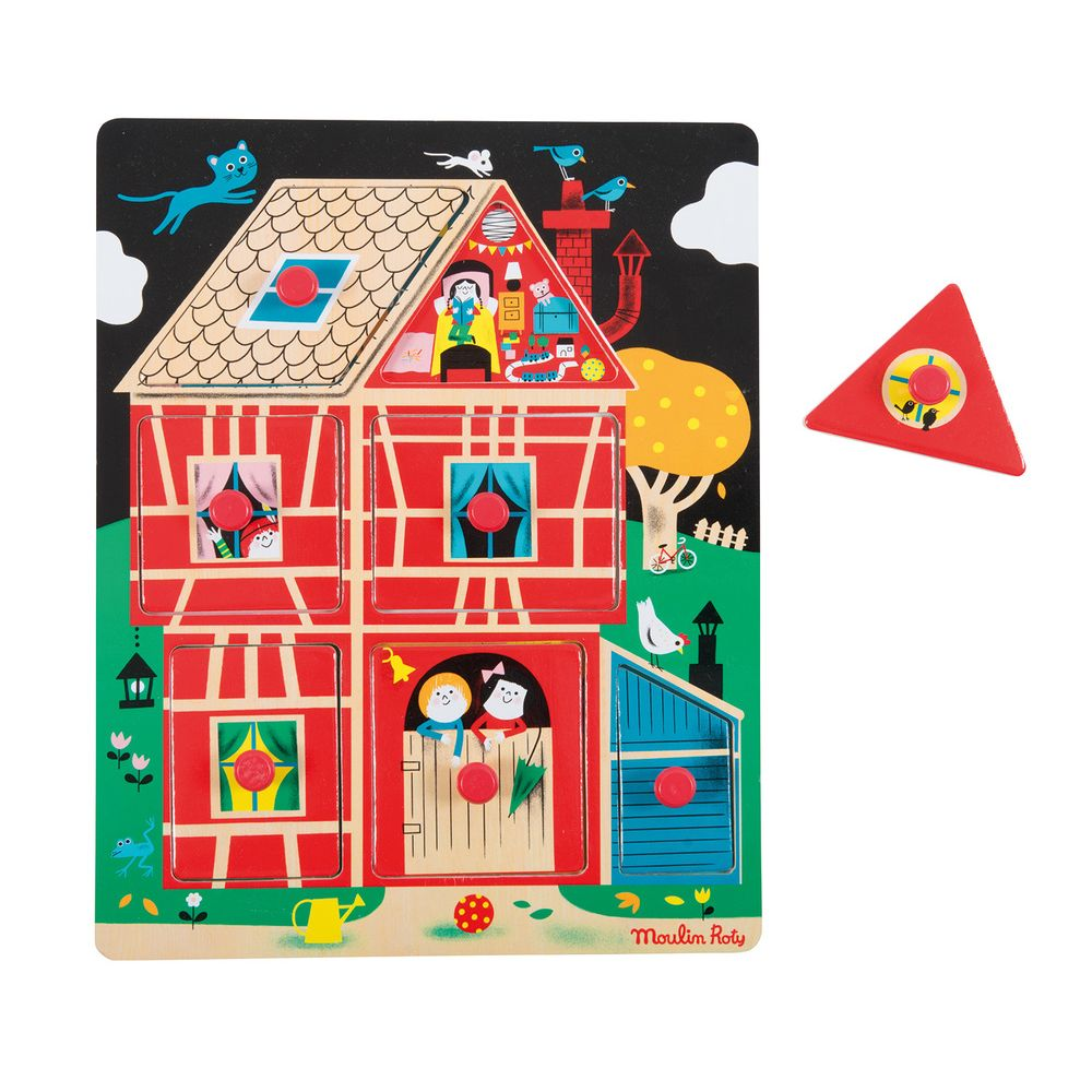 "MOULIN ROTY House peg puzzle ""Les Bambins"""