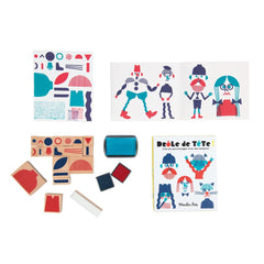 "MOULIN ROTY Set of 20 ink stamps ""Les Bambins"""