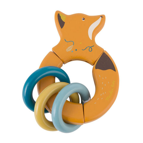 "MOULIN ROTY Fox wooden rattle ""Le voyage d'Olga"""