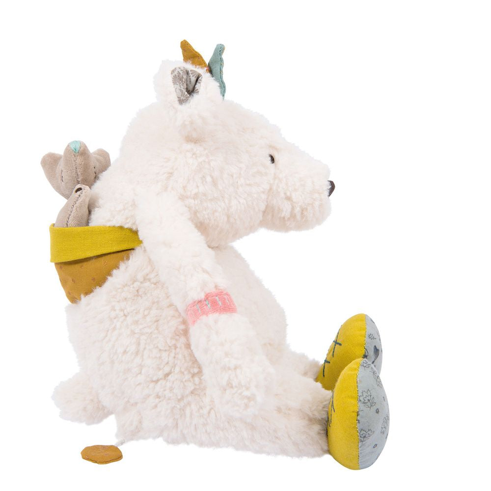 "MOULIN ROTY Musical Soft Toy polar bear ""Le voyage d'Olga"""