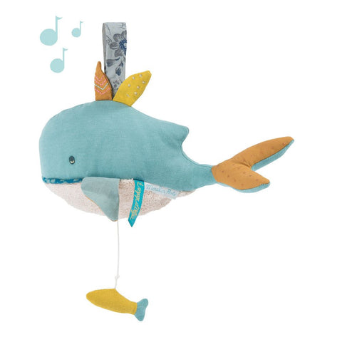 "MOULIN ROTY Musical Soft Toy Josephine the whale ""Le voyage d'Olga"""