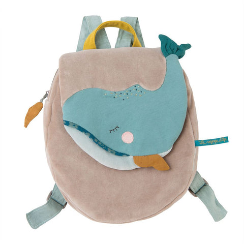 "MOULIN ROTY Whale backpack ""Le voyage d'Olga"""