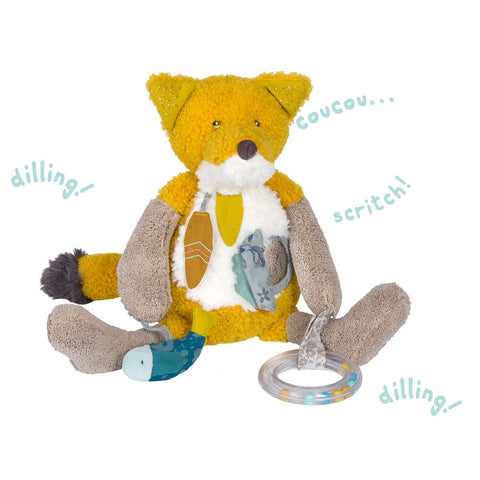 "MOULIN ROTY Chaussette the fox activity toy ""Le voyage d'Olga"""