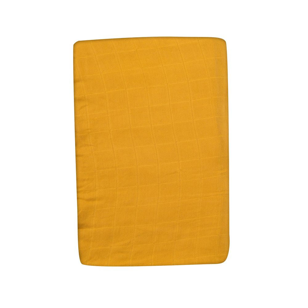 "MOULIN ROTY Fitted sheet Ochre ""Le voyage d'Olga"""