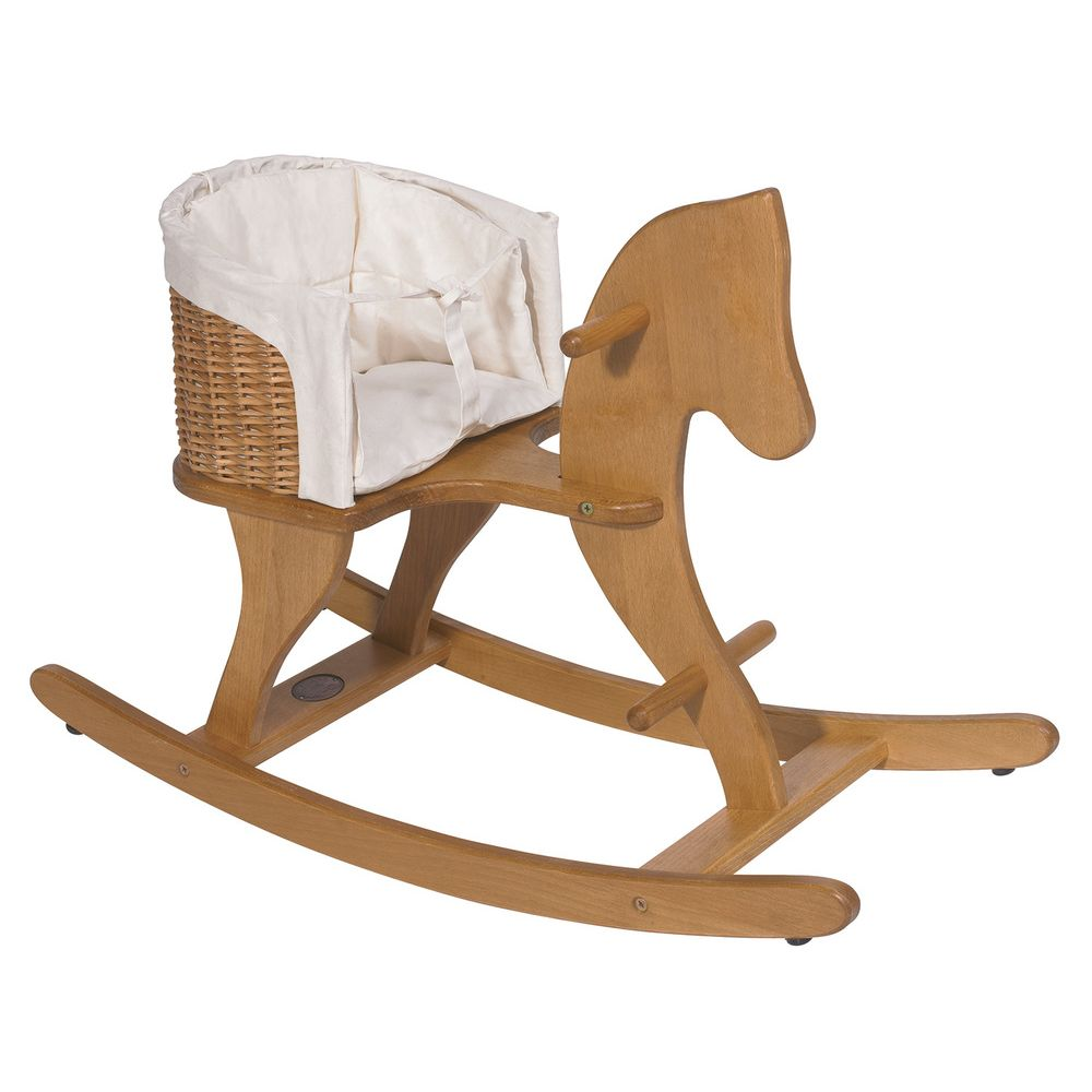 "MOULIN ROTY Rocking horse with basket ""Classic toys"""