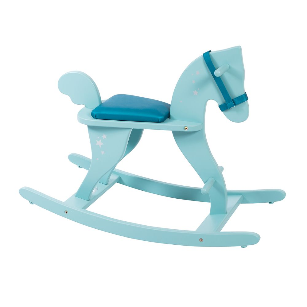 "MOULIN ROTY Blue rocking horse ""Classic toys"""