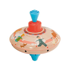 "MOULIN ROTY Small racing spinning top ""Metal toys"""
