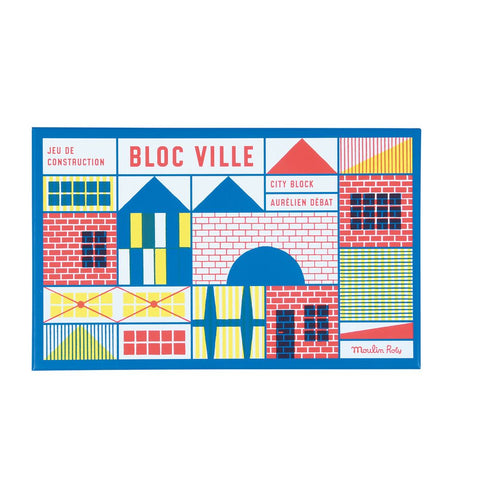 "MOULIN ROTY Building blocks (40 pieces) ""Dans la ville"""
