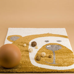 AFKLIVING Kids Rug Teddy Bear Honey