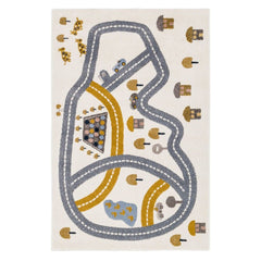 AFKLIVING Kids Rug Race track Blue