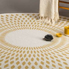 AFKLIVING Round Rug Diamond Illusion Honey