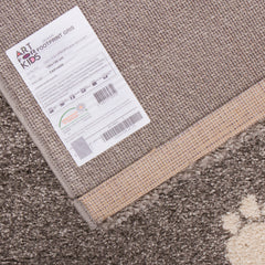 AFKLIVING Kids Rug Footprints Grey