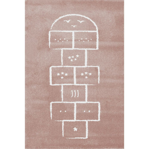AFKLIVING Kids Rug Hopscotch Pink
